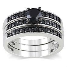 Atacado moda nupcial casamento anel conjuntos de jóias de aço inoxidável da China