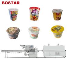 Автоматическая машина для упаковки в термоусадочную пленку для чашки чая с молоком и лапшой