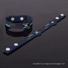 Pulsera y pulsera del enchufe del silicón de las pulseras del encanto de la manera promocional de la pulsera