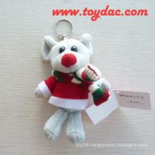 Plush Mouse Key Ring Toy