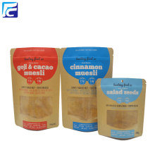 Atacado Kraft Paper Spice Packaging Stand Up Pouch