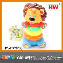 Banho de bebê plástico engraçado conjunto bebê empilhamento anéis brinquedos
