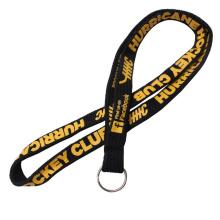 Durable Custom Logo Pk Narrow Lanyard with Metal Key Ring