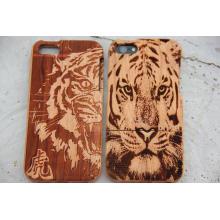 Tampa móvel de madeira gravada do grão da grão do tigre