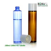 Botella caliente del animal doméstico del tóner de la venta de 100ml 120ml para el empaquetado cosmético