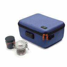 Hard EVA Case Small stash box weed smell proof bag carbon With Combination Lock