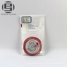 Sacs d'emballage plat blanc biodégradable pe