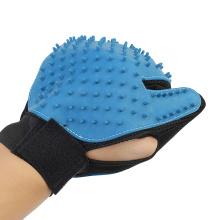 Upgrade version pet grooming mitts Deshedding brush dog hair remover Blue pet grooming glove