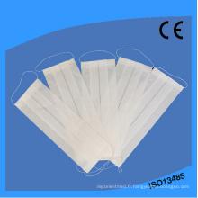 Masque de papier médical jetable jetable à 2 couches