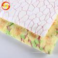 Tela de vellón coral estampado para manta de bebé