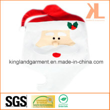 Quality Christmas kitchen Decoration Red Santa Chair Cover
