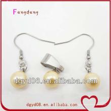Brinco de moda venda quente e conjunto de jóias de pingente