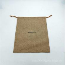 sacs à cosmétiques avec cordon de serrage en toile de jute
