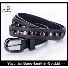 Colorful PU Belt with Silver Rivet for Women and Man