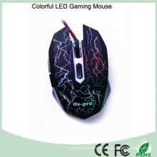 Diseño ergonómico 6 botones ratón óptico del videojugador (M-65-1)