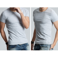 OEM 2015 Latest Design Men Cotton Blouse Short Sleeve Slim Men′s T-Shirt