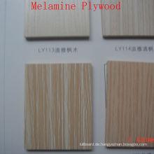 Gute Qualität Holzmaserung Sperrholz mit Melamin laminiert