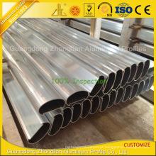 Perfil Handrailing de alumínio do revestimento do pó de Customzied para o balcão