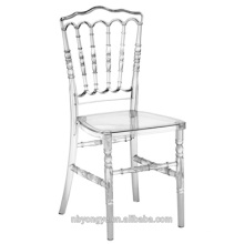 Clásico estilo francés fuerte y resistente resina de plástico napoleón silla