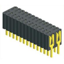 Zweireihiger Steckverbinder mit 1,27 x 2,54 mm Buchsenleiste