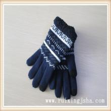 мужчины Теплый зимний сенсорный экран Вяжем перчатки