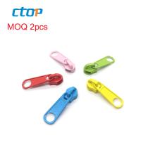 Professional manufacturer custom color zip slider metal zipper slider