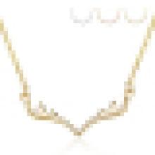 Collar colgante en forma de asta de plata de ley 925 para mujer