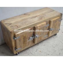 Industrial Urban Loft Mango Wood Cabinet