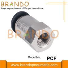 PCF Внутренний прямой пластиковый латунный фитинг для пневматического шланга