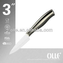 Stainless Steel Handle White Ceramic Blade High-end Knife
