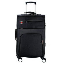 Polyester Soft Built-in Trolley Luggage for Businee and Travel