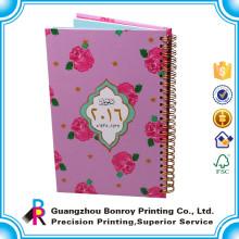 Diseño personalizado cuaderno perforado impreso