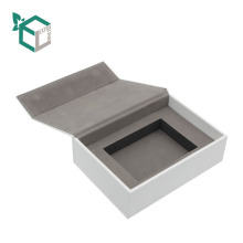 Custom Magnetic Closure Packaging White Cardboard Folding Paper Gift Box with insert