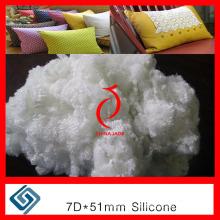 Fibra de grapas de poliéster 7D / 15D * 32mm 51mm 64mm 71mm Hcc, PSF, fibra de poliéster