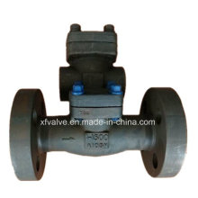 1500lb forjou a válvula de verificação do balanço da extremidade da flange do aço carbono A105