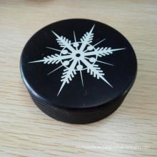Disco de hockey de goma vulcanizado duro de 3 * 1 pulgada