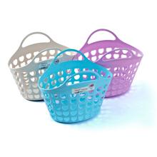 Plastic Fashion Design Basket with Handle