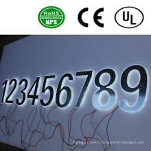 Signe de numéro de signe de lettre de canal rétroéclairé par LED de haute qualité