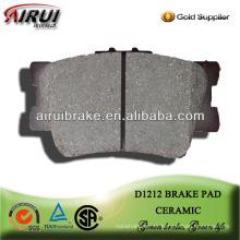 D1212 almohadilla de freno de cerámica de rendimiento para Toyota Camry