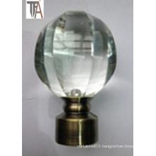 Sphere Crystal Aluminium Curtain Cap for Curtain Rod
