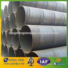 Fabricante de tubo de aço soldado em espiral de grande diâmetro SSAW à venda na china