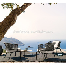 Leisure balcony furniture outdoor garden rope dining set webbing chair