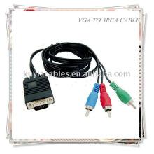VGA HD15 SVGA à 3 RCA COMPONENT CABLE TV HDTV