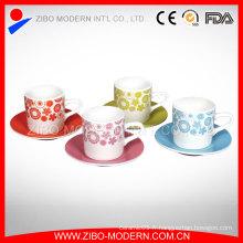 Tasse à café en tasse de café blanc en porcelaine