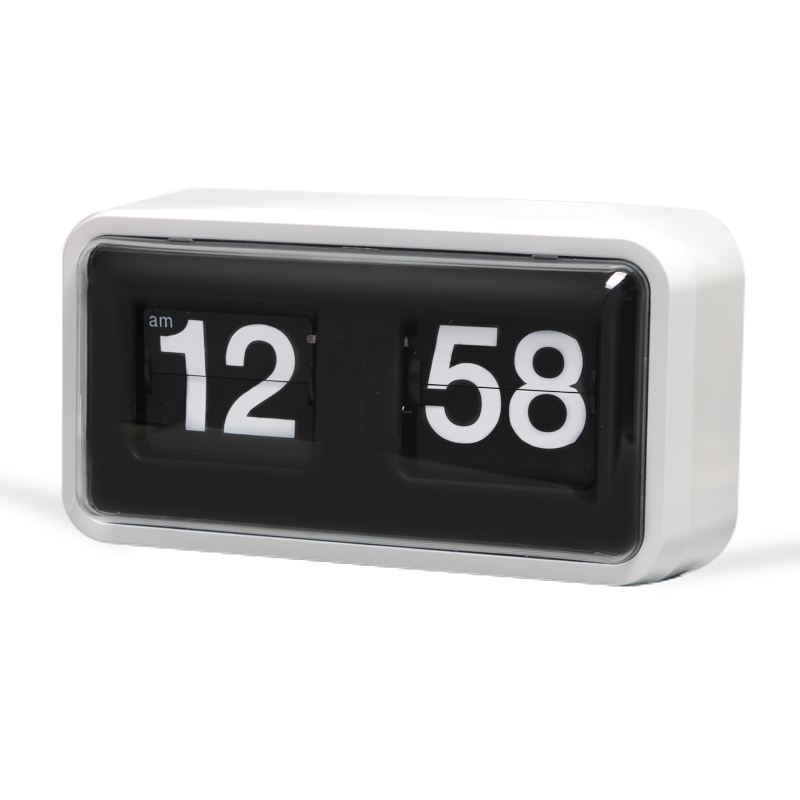 Box Flip Clock White