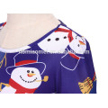 Профессиональные Красочные Печатные Рождественские Девушка Носить Платья Сладкий Детская Одежда