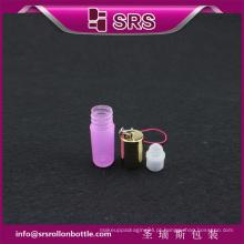 SRS rosa 100% sem rolo de perfume de vazamento em garrafa de amostra de plástico de 3ml