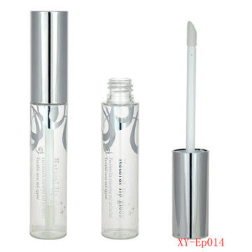 Simple Silver Flower Cosmetic Lipgloss Bottle