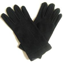 Lady Fashion Black Polar Fleece Knitted Winter Warm Gloves (YKY5445)