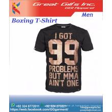 impressão de camisetas personalizadas 100% algodão penteado para os amantes do MMA